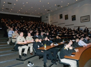US Naval Academy Audience (full room!)