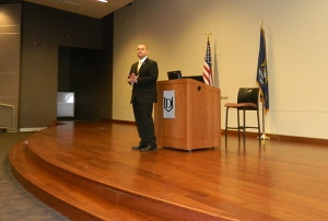 Paul de Souza presenting at Davenport University