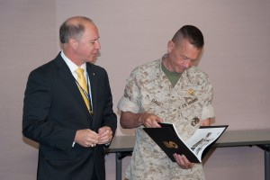 Lt. Gen. Jon M. Davis, USMC Deputy Commander, USCYBERCOM  and Robert A. Morris Colonel (Retired), USAF CSFI Advisory Director