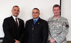 Paul de Souza, USMC Lt. Col Anthony Guess-Johnson, and US Army Joe Billingsley