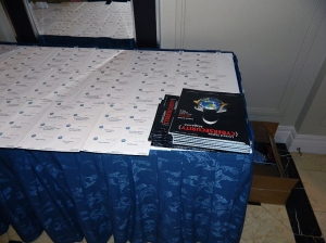 Registration Desk with FREE magazines - courtesy of United States Cyber Security Magazine. Sign up now! Use our CSFI code for a discount: www.uscybersecurity.net/subscribe/?cid=CSFI Use promo code: CSFI25.