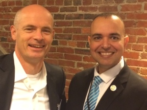 Kristofer Mansson, CEO and Co-founder Silobreaker and Paul de Souza, CSFI Founder President