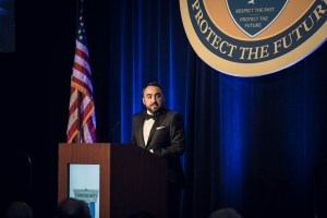 Alex Stamos Chief Security Officer of Facebook was the Keynote speaker at the Fourth Annual Award Ceremony on Oct. 29 in Baltimore, Md.