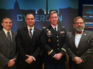 Hobart Richey - Government Relations Associate, Paul de Souza CSFI Founder, Joe Billingsley - Strategist at US Army Cyber Command/CSFI Advisory Director, and Roger Kuhn Science - Advisor (Navy Expeditionary Combat Command)/CSFI Advisory Director.
