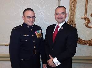 USMC Lt Col Guess-Johnson and Paul de Souza CSFI