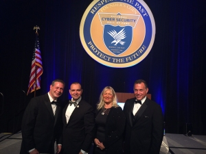 Gabriel Wollner, Cyber Practice Manager Federal Business Council, Inc., Paul de Souza, CSFI Founder, Karen Austin United States Cybersecurity Magazine Publisher, and David Powell, Federal Business Council, Inc., US Cavalry & Armor Association, Maryland CyberSecurity Advisory Group.