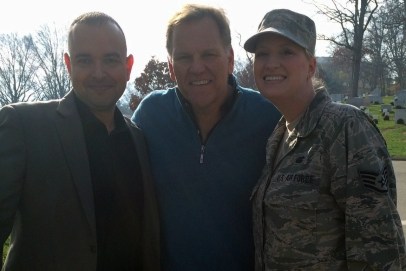 """Michael J. """"Mike"""" Rogers is a CNN National Security Commentator. He was the U.S. Representative for Michigan's 8th congressional district, serving from 2001–2015. It was great seeing him at the Arlington Cemetery!"""