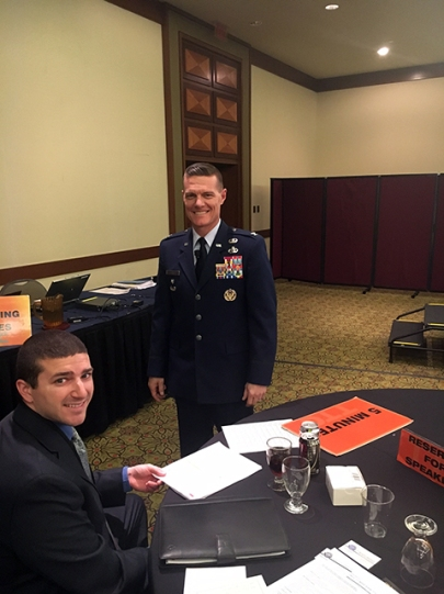 COLONEL BRENDAN HARRIS, USAF, Deputy Dir., Mission Integration Directorate, Natl Reconnaissance Office and Hobart Richey (CSFI).