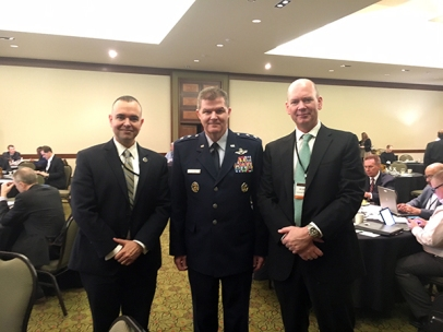 Paul de Souza (CSFI), MAJOR GENERAL THOMAS DEALE, USAF, Director of Operations, HQ, Air Combat Command, Joint Base Langley-Eustis, and Bradford Barrett (TTC)