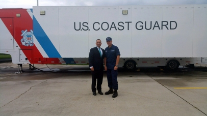 USCG Commander and Paul de Souza