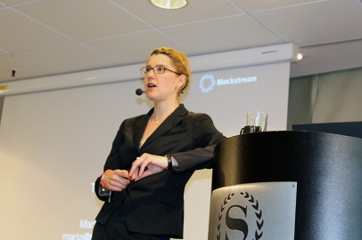 Marta Piekarska during the Q&A session at the end of her presentation