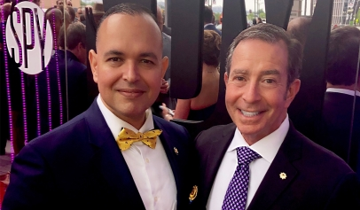Paul de Souza CSFI and Admiral Paul Becker