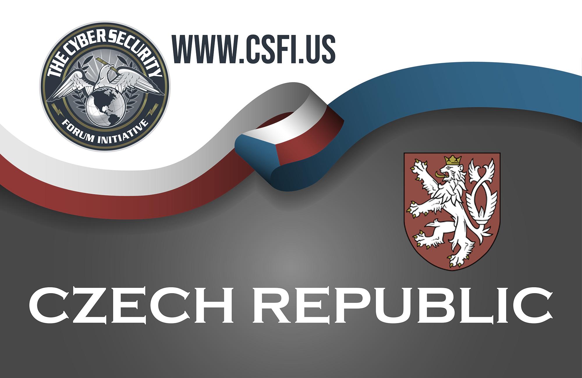 Czech republic sport style flag ribbon classic style. Vector Ill